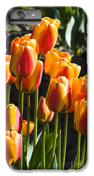 IPhone 7 Plus Case featuring the photograph Orange Tulips by Yulia Kazansky