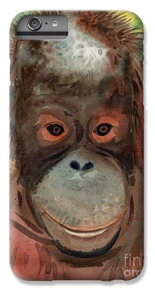Orangutan iPhone 7 Plus Case - Orangutan by Donald Maier