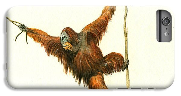 Orangutan iPhone 7 Plus Case - Orangutan by Juan Bosco