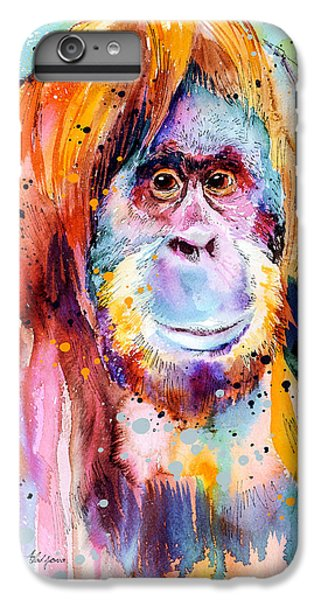 Orangutan iPhone 7 Plus Case - Orangutan  by Slavi Aladjova
