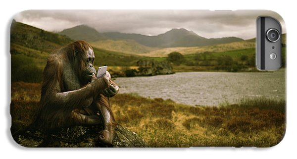 Orangutan iPhone 7 Plus Case - Orangutan With Smart Phone by Amanda Elwell