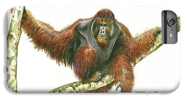 Orangutang IPhone 7 Plus Case by Juan Bosco