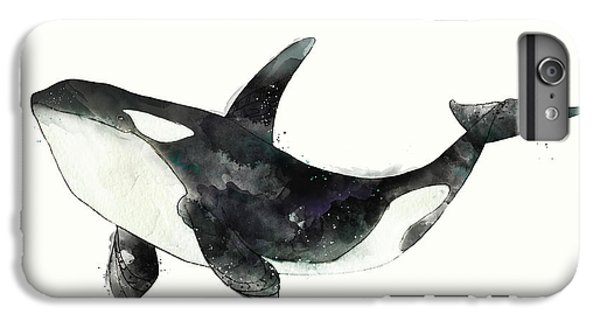 Whale iPhone 7 Plus Case - Orca From Arctic And Antarctic Chart by Amy Hamilton