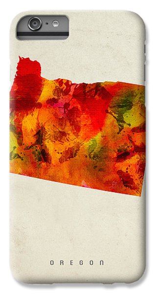 Oregon State Map 04 IPhone 7 Plus Case by Aged Pixel