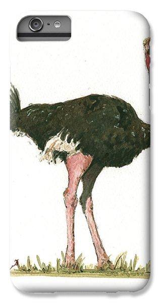 Ostrich Bird IPhone 7 Plus Case by Juan Bosco