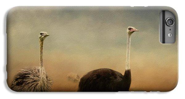 Ostrich Couple IPhone 7 Plus Case by Jai Johnson