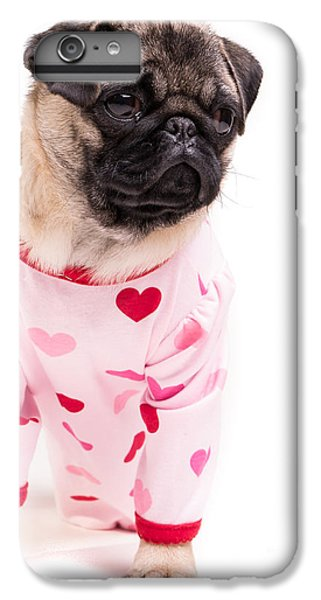 Pug iPhone 7 Plus Case - Pajama Party by Edward Fielding