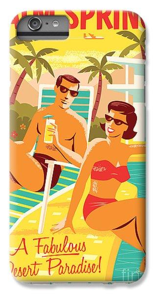 Desert iPhone 7 Plus Case - Palm Springs Poster - Retro Travel by Jim Zahniser