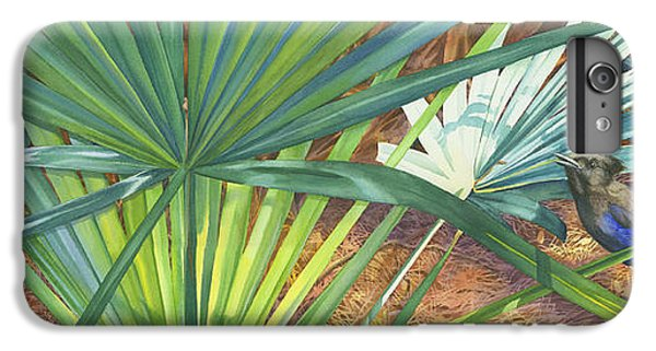 Bluejay iPhone 7 Plus Case - Palmettos And Stellars Blue by Marguerite Chadwick-Juner