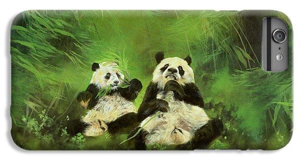 Ladybug iPhone 7 Plus Case - Pandas  by Odile Kidd