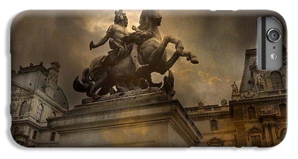 Paris - Louvre Palace - Kings Of Paris - King Louis Xiv Monument Sculpture Statue IPhone 7 Plus Case by Kathy Fornal