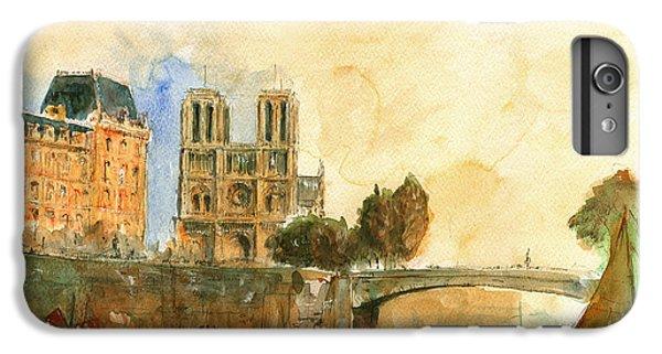 Paris Watercolor IPhone 7 Plus Case by Juan  Bosco