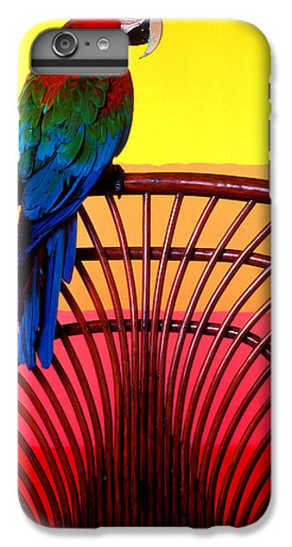 Macaw iPhone 7 Plus Case - Parrot Sitting On Chair by Garry Gay