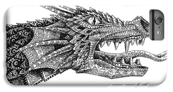 IPhone 7 Plus Case featuring the drawing Pattern Design Dragon by Aaron Spong