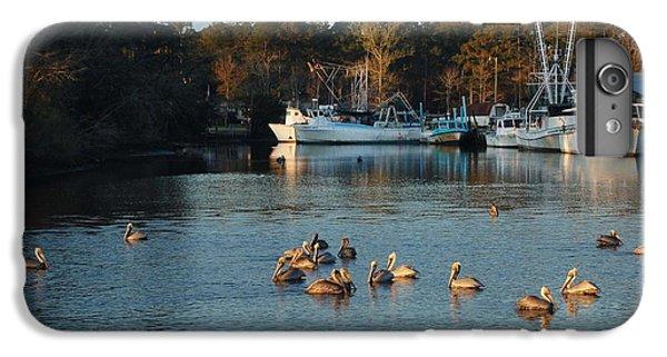 Shrimp Boats iPhone 7 Plus Case - Pelicans And Shrimp Boats by Michael Thomas