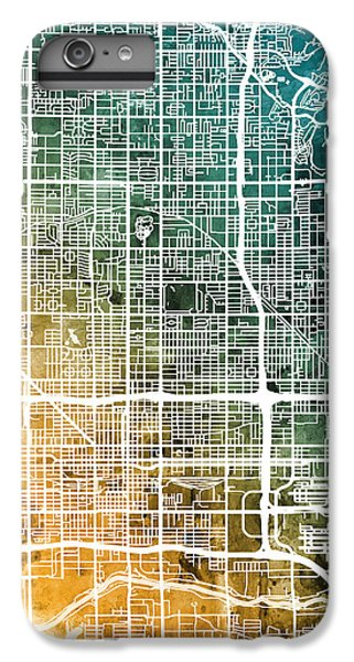 Phoenix iPhone 7 Plus Case - Phoenix Arizona City Map by Michael Tompsett