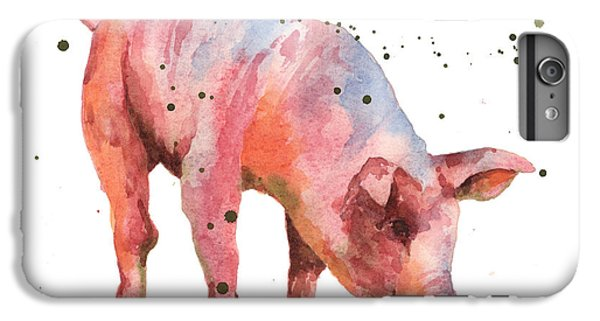 Pig Painting IPhone 7 Plus Case by Alison Fennell