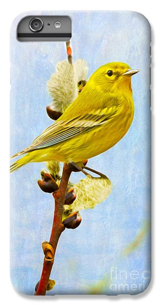 Pine Warbler On Willow Catkin IPhone 7 Plus Case