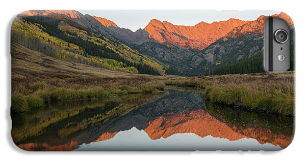 IPhone 7 Plus Case featuring the photograph Piney River Autumn Sunrise by Aaron Spong