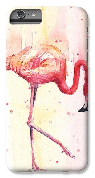 Pink Flamingo Watercolor Rain IPhone 7 Plus Case
