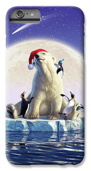 Penguin iPhone 7 Plus Case - Polar Season Greetings by Jerry LoFaro
