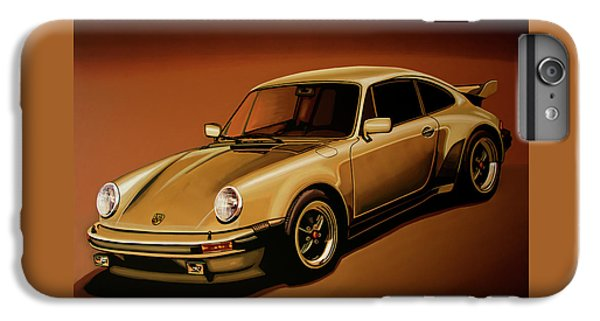 Car iPhone 7 Plus Case - Porsche 911 Turbo 1976 Painting by Paul Meijering