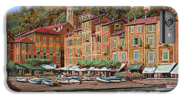 Boats iPhone 7 Plus Case - Portofino-la Piazzetta E Le Barche by Guido Borelli