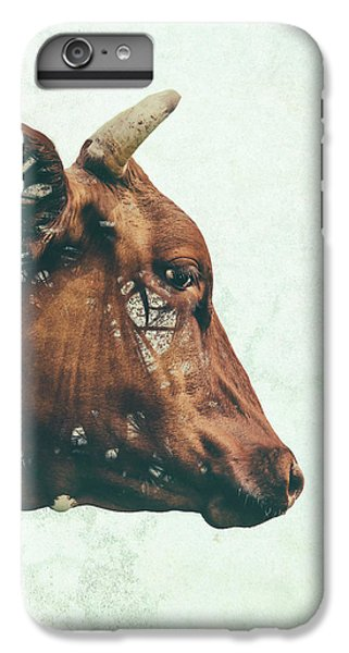 Cow iPhone 7 Plus Case - Portrait Of Bess by Katherine Smit