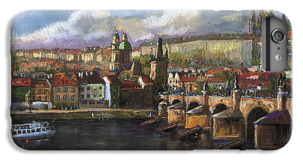 Castle iPhone 7 Plus Case - Prague Panorama Charles Bridge Prague Castle by Yuriy Shevchuk