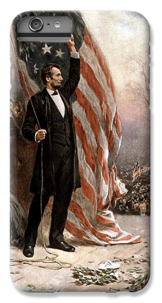 President Abraham Lincoln Giving A Speech IPhone 7 Plus Case by War Is Hell Store