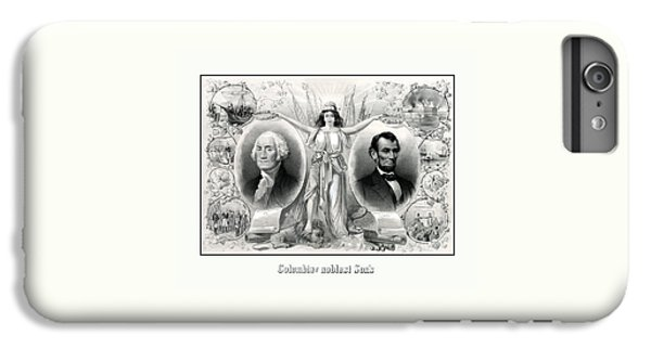 George Washington iPhone 7 Plus Case - Presidents Washington And Lincoln by War Is Hell Store