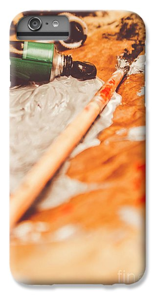 Craft iPhone 7 Plus Case - Progress Of Oil Painting by Jorgo Photography - Wall Art Gallery