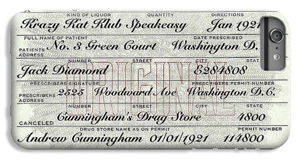 IPhone 7 Plus Case featuring the photograph Prohibition Prescription Certificate Krazy Kat Klub by David Patterson