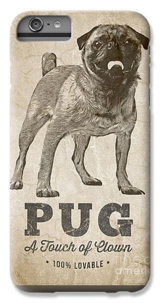 Pug iPhone 7 Plus Case - Pug A Touch Of Clown by Edward Fielding
