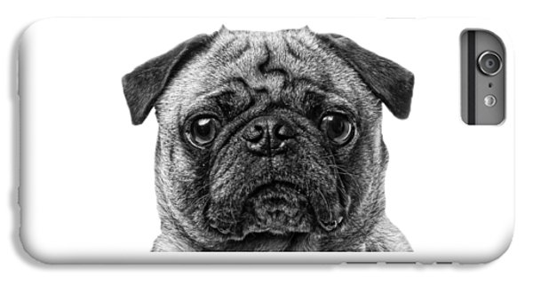 Pug iPhone 7 Plus Case - Pug T-shirt by Edward Fielding