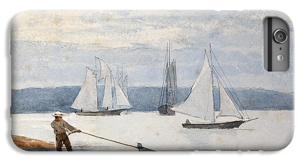 Boat iPhone 7 Plus Case - Pulling The Dory by Winslow Homer