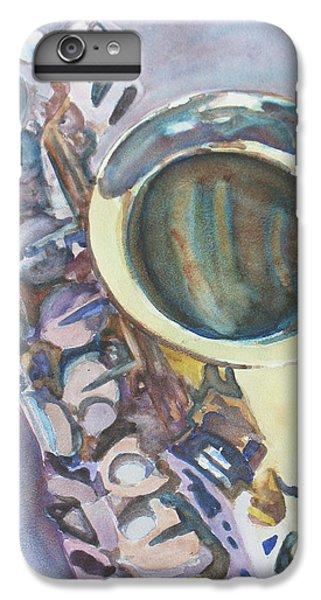 Saxophone iPhone 7 Plus Case - Purple Sax by Jenny Armitage