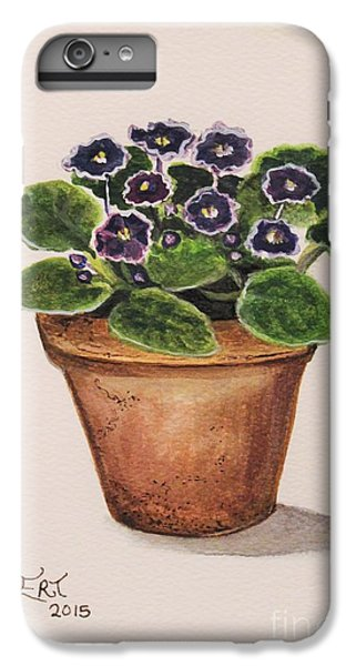 Garden iPhone 7 Plus Case - Purple Violets by Elizabeth Robinette Tyndall