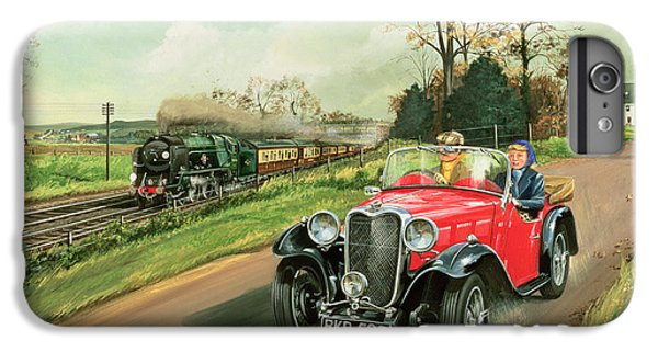 Car iPhone 7 Plus Case - Racing The Train by Richard Wheatland