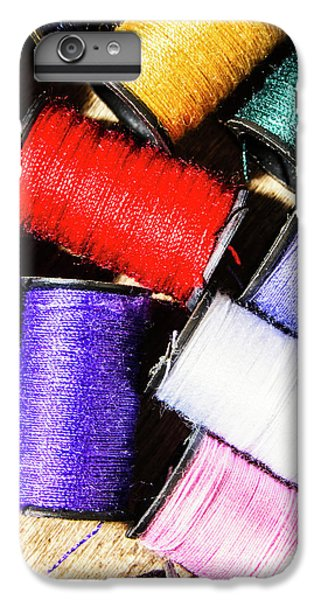 IPhone 7 Plus Case featuring the photograph Rainbow Threads Sewing Equipment by Jorgo Photography - Wall Art Gallery