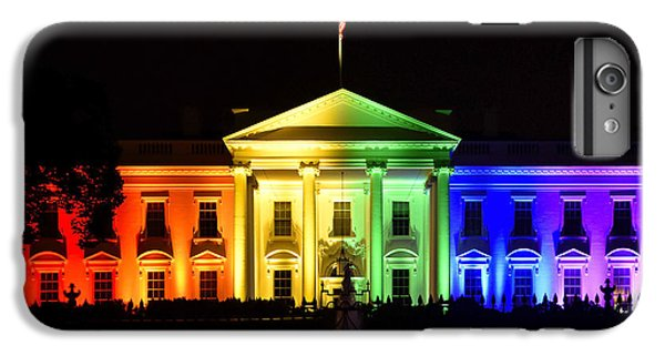 Rainbow White House  - Washington Dc IPhone 7 Plus Case by Brendan Reals