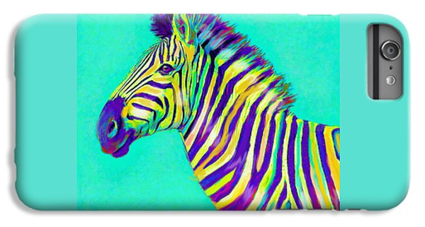 Rainbow Zebra 2013 IPhone 7 Plus Case by Jane Schnetlage