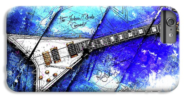 Randy's Guitar On Blue II IPhone 7 Plus Case by Gary Bodnar