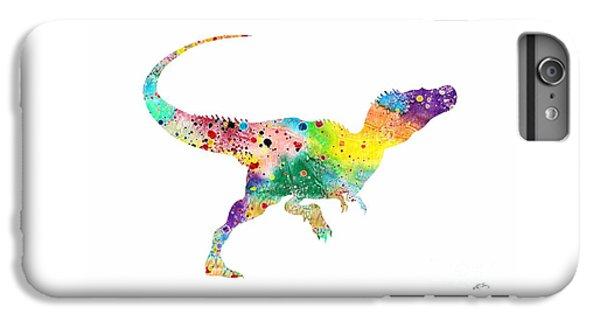 Raptor 2 Dinosaur Watercolor IPhone 7 Plus Case by Svetla Tancheva