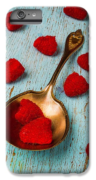 Raspberries With Antique Spoon IPhone 7 Plus Case by Garry Gay