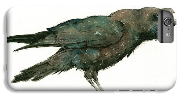 Crow iPhone 7 Plus Case - Raven Bird by Juan Bosco