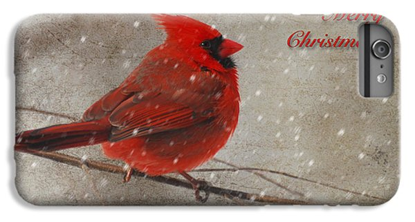 Red Bird In Snow Christmas Card IPhone 7 Plus Case
