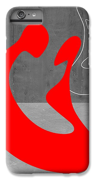 Red iPhone 7 Plus Case - Red Couple by Naxart Studio