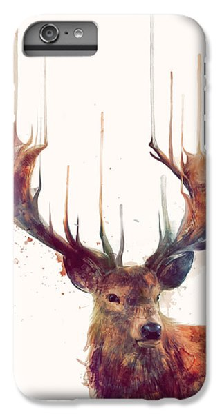 Red iPhone 7 Plus Case - Red Deer by Amy Hamilton