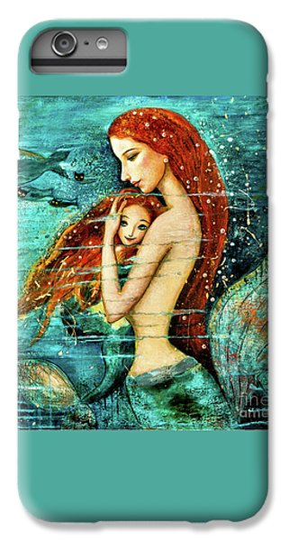iPhone 7 Plus Case - Red Hair Mermaid Mother And Child by Shijun Munns